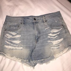 American eagle jean shorts size 14